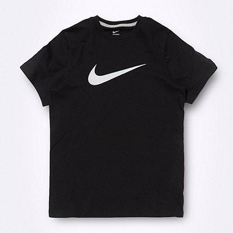 Nike - Boy+s black logo t-shirt