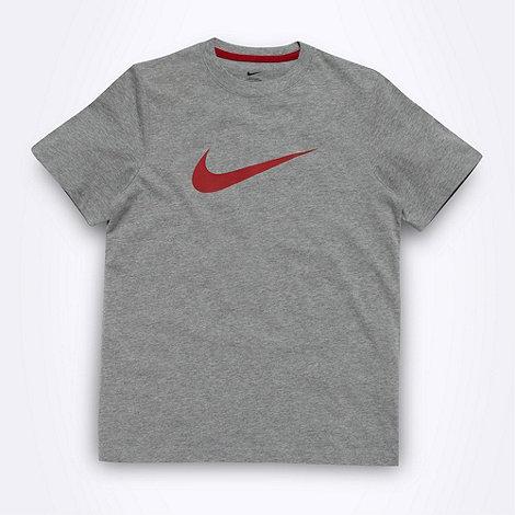 Nike - Adidas boy+s grey textured logo t-shirt