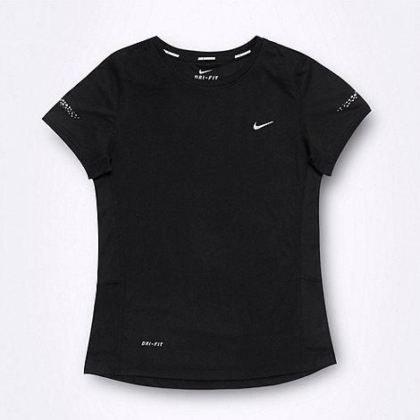 Nike - Girl+s black +Miller+ t-shirt