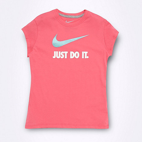 Nike - Girl+s pink +Just Do It.+ t-shirt