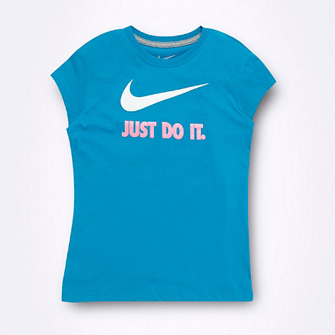 Nike - Girl+s turquoise +Just Do It.+ t-shirt