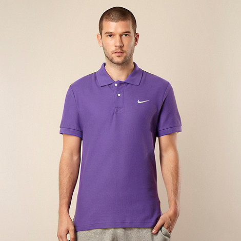 Nike - Purple pique polo shirt