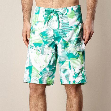 adidas - Green palm swim shorts