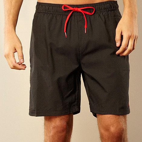 Speedo - Black grid checked swim shorts