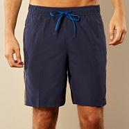 Navy panel swim shorts