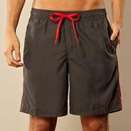 Grey piped swim shorts