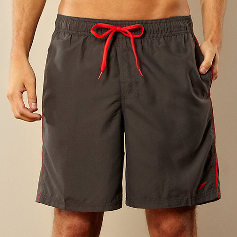 Speedo - Grey piped swim shorts