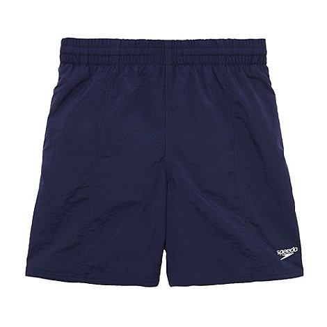 Speedo - Boy+s navy swim shorts