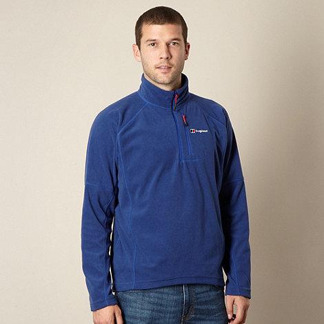Berghaus - Blue zip neck fleece top