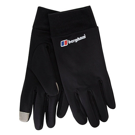 Berghaus - Black touch screen fleece lined gloves