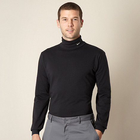 Nike - Black jersey polo neck top