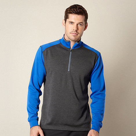 Nike - Blue zip neck performance top