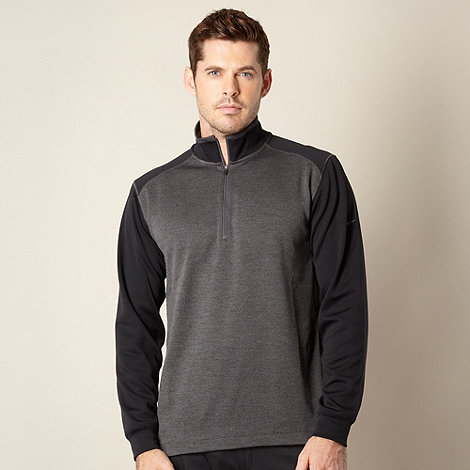 Nike - Black zip neck performance top