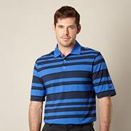 Black bold striped performance polo shirt