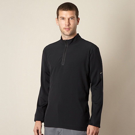 Nike - Black zip neck cover up