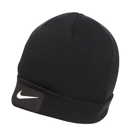 Nike - Black patch logo beanie hat