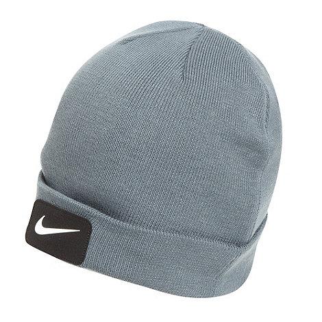 Nike - Grey patch logo beanie hat
