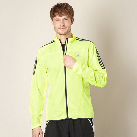 adidas - Neon yellow logo stripe jacket
