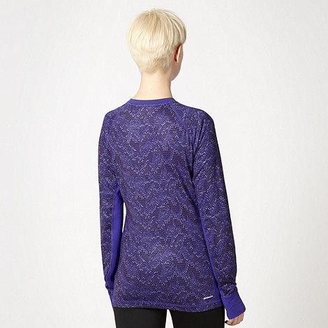 adidas - Purple linear thermal top