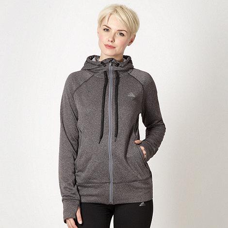 adidas - Dark grey zip through hoodie