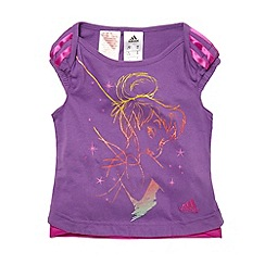 adidas - Girl's purple 'Tinkerbell' t-shirt