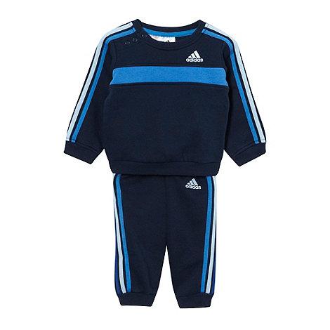 adidas - Babies navy logo jogger set