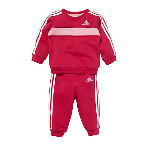 adidas - Girl+s pink jogger set