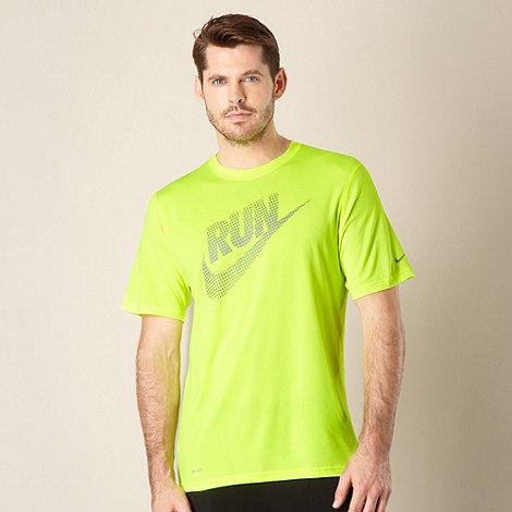 Nike - Neon yellow logo running t-shirt