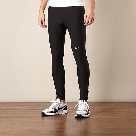 Nike - Black panel tight fitness leggings