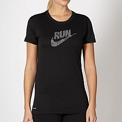 Nike - Black logo running t-shirt
