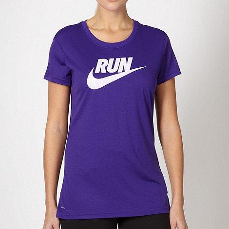 Nike - Purple +Run+ logo t-shirt