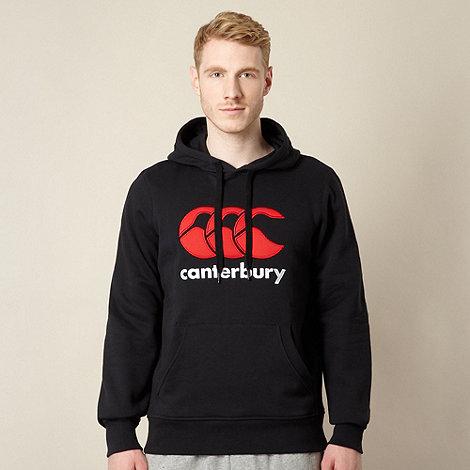 Canterbury - Black classic logo hoodie