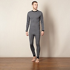 Helly Hansen - Grey long sleeved thermal top and bottoms set