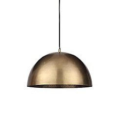 Home Collection - Bronze Hammered Metal 'Mason' Pendant Ceiling Light