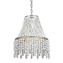 Abigail Ahern/EDITION - Metal and wood beaded pendant ceiling light