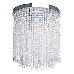 Home Collection - Crystal Glass 'Savannah' Flush Ceiling Light
