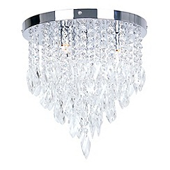 Home Collection - Crystal Glass 'Jessica' Flush Ceiling Light