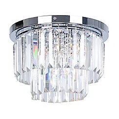 Home Collection - Crystal Glass 'Melody' Flush Ceiling Light