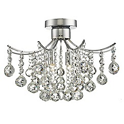 Home Collection - Crystal Glass 'Grace' Flush Ceiling Light