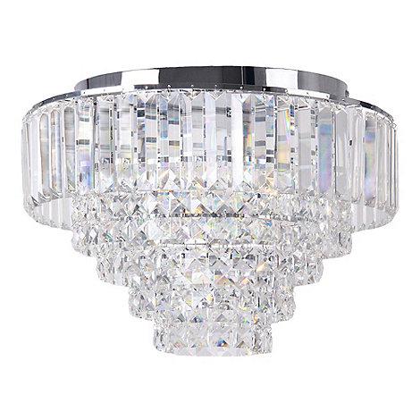 home collection sophia crystal glass flush light