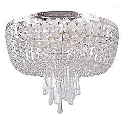 Home Collection - Mia Crystal Glass Flush Light