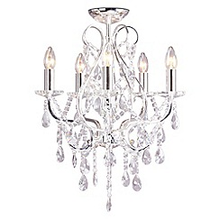 Home Collection - Avery Crystal Glass Flush Light