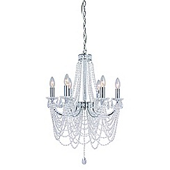 Home Collection - Metal and glass 'Evelyn' chandelier