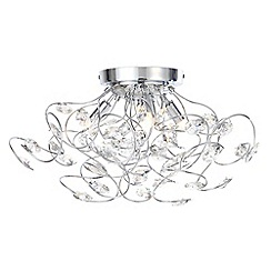 Home Collection - Hannah Crystal Glass Flush Light