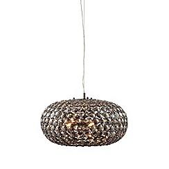Home Collection - Ava Smoked Crystal Glass Ball Pendant Light