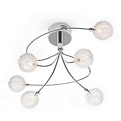 Home Collection - Lillian Crystal Glass Flush Light