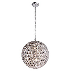 Home Collection - Amelia Smoked Crystal Glass Ball Pendant Light