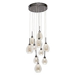 Home Collection - Caroline Clear and Champagne Glass LED Cluster Light