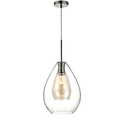 Home Collection - Caroline Clear and Champagne Glass Pendant Light