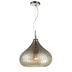 Home Collection - Anna Champagne Crackle Glass Pendant Light